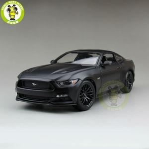 1:18 2015 Ford Mustang GT 5.0 modèle de voiture moulée sous pression pour collection de cadeaux passe-temps Mae Black maisto