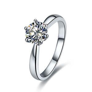 Trasporto libero 1ct colore e chiarezza migliorata SONA diamante sintetico Fidanzamento Wedding Ring Factory Design Fornire personalizzare