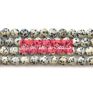 NB0039 On Sale Natural Dalmatian Jasper Beads DIY Jewelry Accessory High Quantity Loose Stone 8 mm Round Beads for Make Jewelry