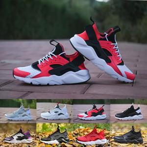 İndirim Hava Huarache 4 IV Ultra Kadınlar Için Koşu Ayakkabıları Mens Ordu Yeşil Kırmızı Beyaz Siyah Huaraches Spor Sneakers Eğitmenler Huraches ...