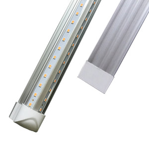 LED tubes lights 8ft 6ft 5ft 4ft Integrated V-Shaped Double row 26W 36W 45W 72W Cree Led Fluorescent lighting AC85V-265V 50pcs lot