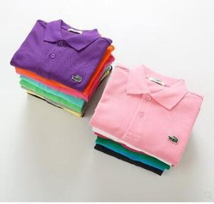 Kinder Kinder Polo Shirts Solide T Kurzarm Studenten Sommer Schuluniformen Große Teenager Jungen Kleine Mädchen Baumwolle Revers Tops
