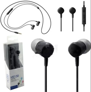 HS130 Headphone 3.5MM Stereo Music Earphone with Mic Earbuds for Samsung Galaxy Note7 S7 S6 Cell Phone COPY