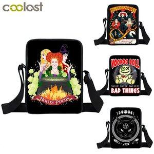 Hocus Pocus Brief / Hexe / Black Cat Voodoo Puppe Drucken Mini Umhängetasche Frauen Handtasche Teenager Mädchen Kleine Umhängetasche