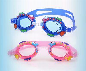 Lindos niños de dibujos animados gafas antiniebla para niños niños niñas gafas de natación deportes acuáticos bebé gafas espejo de silicona anillo 6bj Y