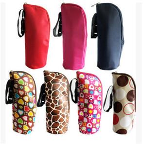Оптовая продажа новый ребенок многоцветный тепловой бутылочка для кормления грелки сумка повесить коляску ткань 200 шт. / лот T2I003
