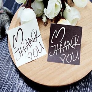 6 قطعة / مجموعة ختم ملصقا ل كاندي كوكي مربع كيس الشوكولاته ورقة هدية حزمة عيد ميلاد حفل زفاف لصالح diy القلب شكرا لك