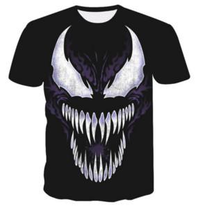 Venom T-shirts Nueva Moda Hombres Mujeres Carácter 3D Camisetas Camiseta Casual Camiseta de Impresión 3D Tops DC014
