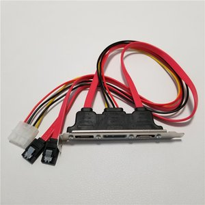 SATA to eSATA с 4-контактным IDE Molex Блок питания Адаптер Конвертер Карта Полная высота для внешнего жесткого диска