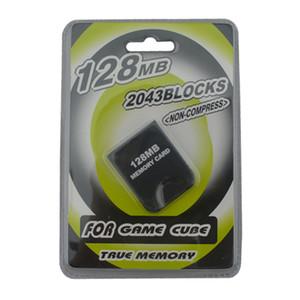 Pratico 32 MB 64 MB 128 MB Schede di memoria Memory Card Saver per NGC CameCube Gioco Cube GC Console Blister Imballaggio DHL FEDEX EMS SPEDIZIONE GRATUITA
