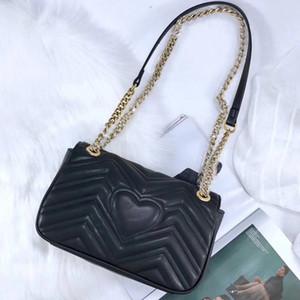 Оптовая натуральная кожа цепь кошелек моды цепи плеча сумку коровьей сумки дальнозоркостью держатель карты кошелек вечером сумка женщины