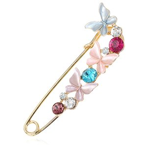 nuovo arrivo pin All'ingrosso Fashion Colorful Mental Christmas flower Crystal Women Girl Natale Lucky Jewelry Gifts Spilla