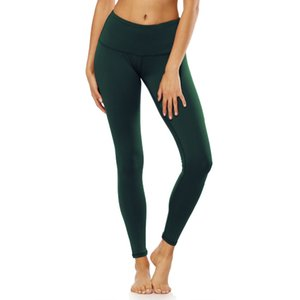Plus Size Squat Proof Hip Up Yoga Fitness Leggings with Pocket High waist Solid Sport Gym Tights Top Quality Nylon Workout Pant