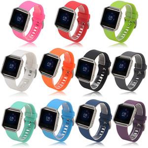 Banda de silicona de alta calidad correa de silicona del reemplazo de la correa de reloj para Fitbit Blaze pulsera elegante del reloj de la aptitud