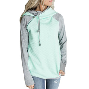 Women Hoodie 2018 Autumn Double Hooded Sweatshirt Long Sleeve Pullover Tracksuits Cotton Jumper Sudaderas mujer 2XL 3XL