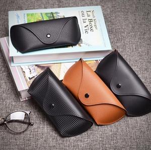 2018 HOT Protable Leather Glasses Case 4 estilos Gafas de sol de alta calidad Almacenamiento de lentes Bolsa