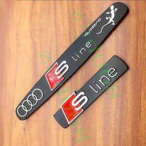 1x معدن S خط sline سيارة شعار شارة لاصقة الجسم Sline QUATTRO السيارات التصميم لA4 A1 A6L A1 A3 Q5 Q7 A5