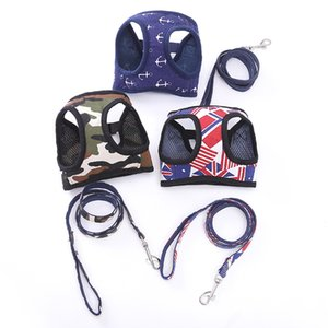 3 Dtyles Dog Leash Set Dog Leash Set Malha Respirável Large Dogs Harness Pet Vest Outdoor Filhote de cachorro pequeno cão leva Carrier AAA845