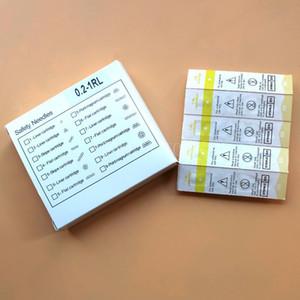 50 pçs / caixa Esterilizado Cartucho Agulhas 600D-G 1RL 0.2mm Sobrancelha Agulhas de Tatuagem Dicas para Maquiagem Permanente Máquina Caneta Lábio Sobrancelha