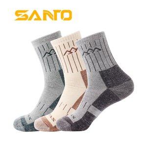3 Par / lote 2017 Nuevos hombres de secado rápido Coolmax Calcetines Calientes Calientes Calcetines Gruesos Anti-fricción Casual Terry Meias Masculinas