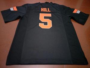 Men # 5 Black Orange Hill Oklahoma State Cowboy Alumni Collegio Jersey o custom qualsiasi nome o numero di maglia