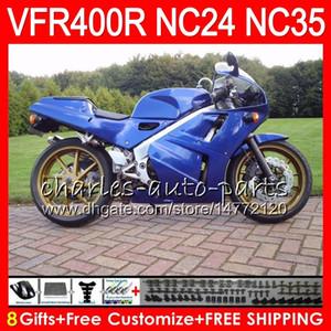 RVF400R para HONDA VFR400 R NC24 V4 VFR400R 87 88 94 95 96 81HM39 RVF VFR 400 R NC35 VFR 400R 1987 1988 1994 1995 1996 Carenados Red plateado