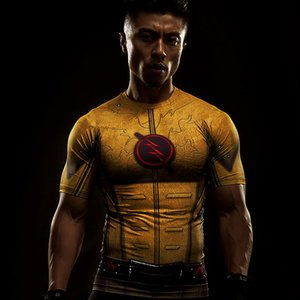 2017 Cosplay Costume Flash Inverse 3D Imprimé T-Shirt Hommes À Manches Courtes Compression Shirt Raglan Vêtements Fitne