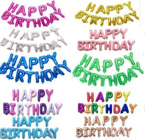 Balon Renkli Mutlu Doğum Günü Mektup Balonlar Doğum Günü Partisi Mektup Gag Oyuncaklar Alüminyum Balonlar Kapalı süslemeleri 2007