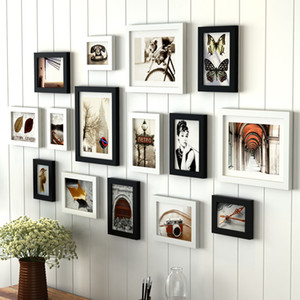 Collage Bilderrahmen Set Moderne Holz Kombination Wand Bilderrahmen Künstlerische Wohnzimmer Bilderrahmen Bild Album Wohnkultur
