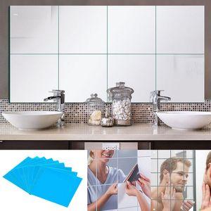 9/16/32 Pcs DIY Square Mirror Tile Wall Stickers 3D Decal Home Room Decoration Para la sala de estar Porche