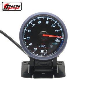 Dragon gauge 60mm Self-test function Stepper motor Auto Car Ext Temp Meter Exhaust Gas Temperature Gauge