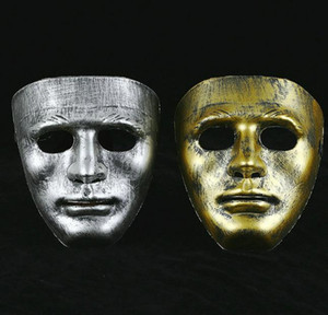 Vintage hommes masque complet vénitien costume en plastique mascarade masque unisexe masqué boule masques noël halloween scène les accessoires de performance