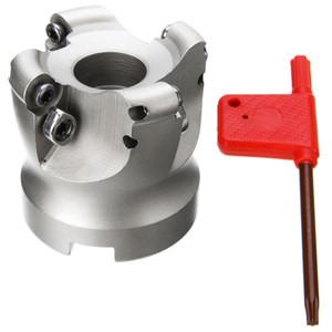 1pc 4 flauto EMR 5R-50-22 strumento fresa fresa frontale con chiave T15 per utensili da taglio pesanti