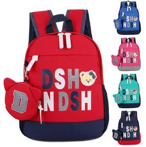 2018 Schoolbag Bebek sırt çantası Çocuk çantaları Anaokulu Öğrenci sırt çantası Çocuk çantası Tuval + Naylon Okul Çantaları Sevimli karikatür A13