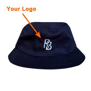Cappello secchio 100% cotone uomo equipaggiato cappello popolare accessori per abbigliamento piccolo ordine outdoor sport fishman cappello personalizzato tappo secchio