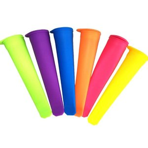 Silicone Ice Pop Mold Popsicles Moule avec couvercle Ice Cream Makers Push Up Crème Glacée Jelly Lolly Pop Pour Popsicle