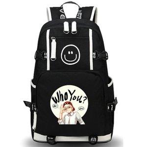 Кто вы рюкзак прохладный слово день пакет G Дракон мешок школы отдыха packsack качество рюкзак Спорт школьный открытый рюкзак