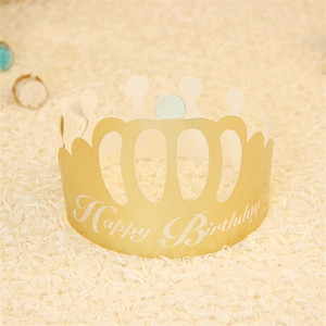 Festive Party Hats Birthday Supplies Papel de diseño Golden Crown Shape Desechable Gorra Para Niños Adultos Fashion Caps 0 2hy jj