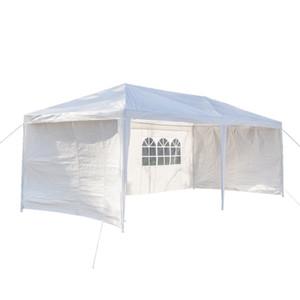 3 x 6m 6면 방수 텐트 두 개의 문 나선형 튜브 - 정원 캐노피 텐트 야외 파티오 파티, 가정용, 결혼식, 주차 대마 - 오순절