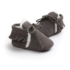 Baby Boy Girl Baby Mocasines Moccs Soft Shoes Bebe Fringe Soft Suela antideslizante Calzado Zapatos de cuna Nueva PU Cuero de gamuza recién nacido