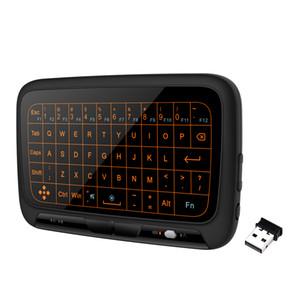 미니 H18 무선 키보드 2.4GHz 항공 / 안드로이드 TV 박스 노트북 태블릿 PC DHL에 대한 원격 제어 게임 터치 패드를 날기
