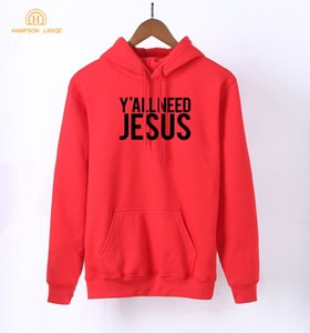 HAMPSON LANQE Super Jesus Christian sudaderas con capucha para mujeres 2018 Primavera Otoño Sudaderas Fleece Long Sleeve Pullovers Streetwear