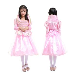 Filles Lotus Fée Rose Taille Bow Princesse Dress Enfants Journée Performance Vêtements Jolie Enfants Vêtements Filles Robes