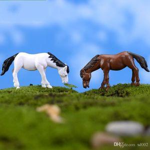 Moss Lichen Micro Paisagem Decoração de Fadas Jardim Miniaturas Resina Natural Artesanato Artificial Mini Cavalo Pônei Boneca Home Decor 1 1cj ii