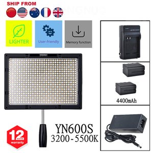 al por mayor YN600S Pro LED Video Light Studio Shooting 3200K-5500K para Cámaras DSLR + NP-F750 Battery + AC Adapter