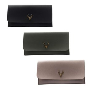 Mulheres Moda Estilo Coreano Deer Head Longo Carteira Bolsa De Mão Multicolor Classic Coin Purse Wallet