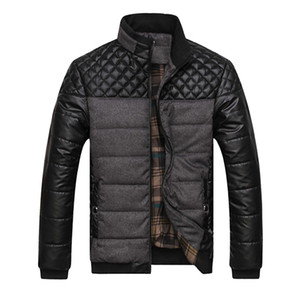 Chaquetas y abrigos para hombre de marca 4XL PU Patchwork Designer Jackets Men Prendas de abrigo Moda de invierno Ropa masculina SA004