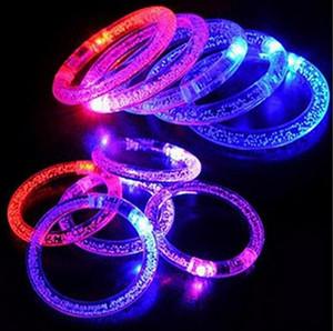 Оптовая свет игрушки Led мигающий мигающий браслет кольцо руки браслеты для украшения партии бесплатно корабль