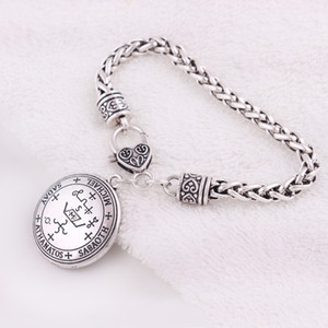 Apricot Fu Archangel Michael Enochian Talisman Amulet Angel Tibetan Bracelet For Women Bangles Fashion Jewelry Gifts