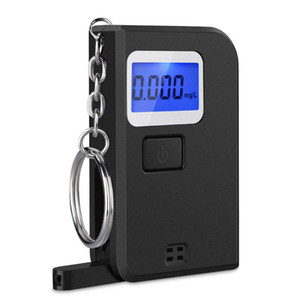 Breath Alcohol Tester Portable Keyring Mini Keychain Digital Breathalyzer with LCD Display for Drinkers Driver safety driving